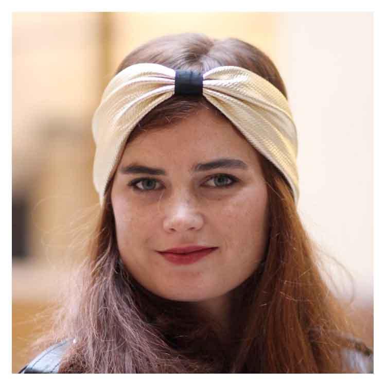 Headband tissu doré Comptoir Doré