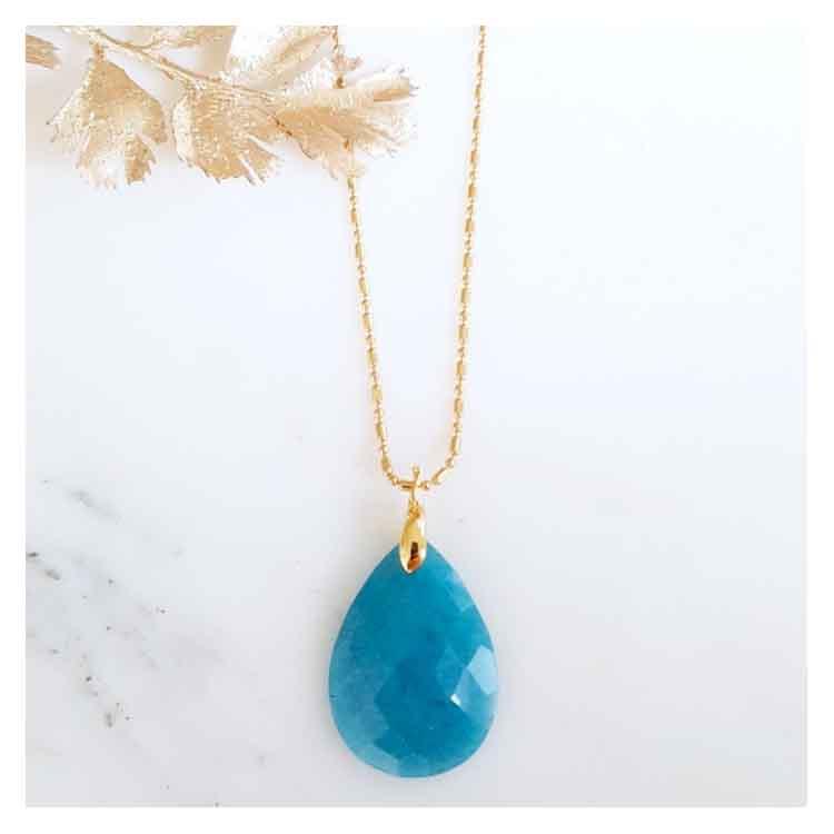 Sautoir pierre bleue Walter Sir Jane