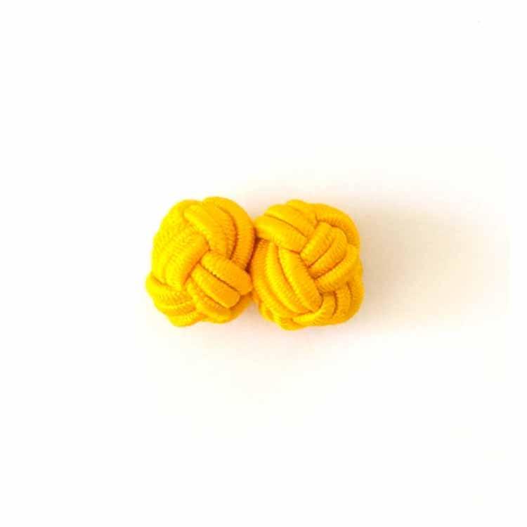 Boutons de manchette passementerie jaune Comptoir Doré