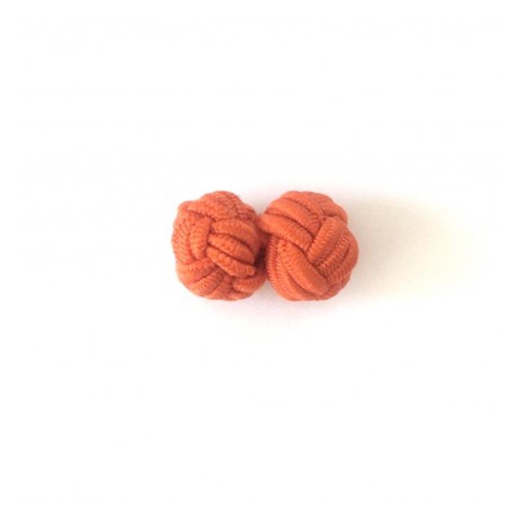 Boutons de manchette passementerie Orange Comptoir Doré