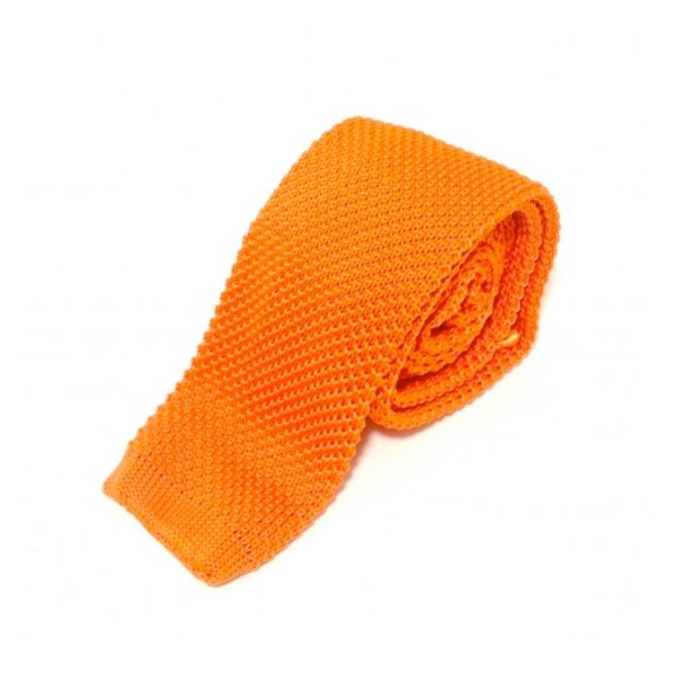 Cravate tricot orange Comptoir Doré