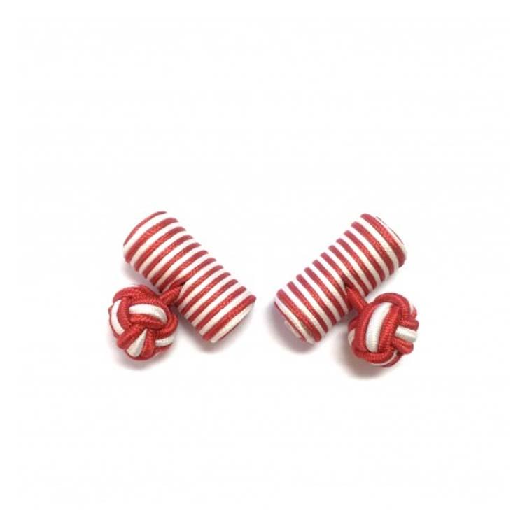 Boutons de manchette Comptoir Doré rouge et blanc