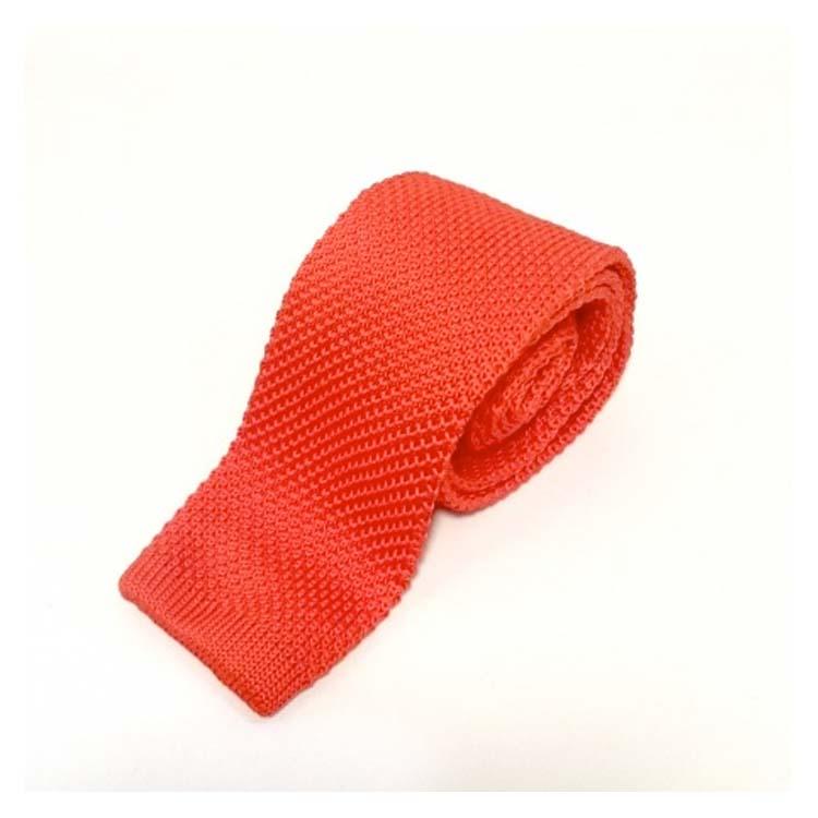 Cravate tricot rouge Comptroir Doré