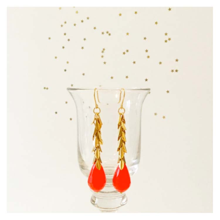 Boucles d'oreilles Sir Jane Lizzy rouge