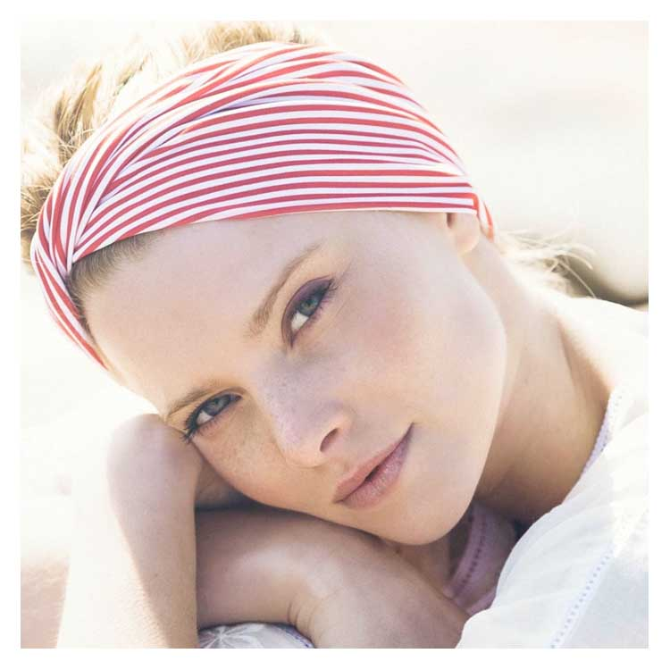 Bandeau Mathilda headband rayé rouge Les Papillons de Sophie