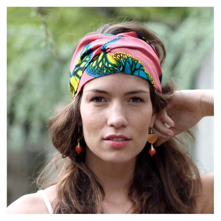 Headband wax rayé rouge Comptoir Doré